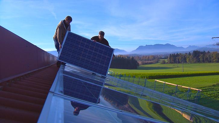 Montage Solarstrom