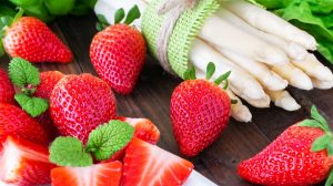 Obst und Gemüse im Frühling